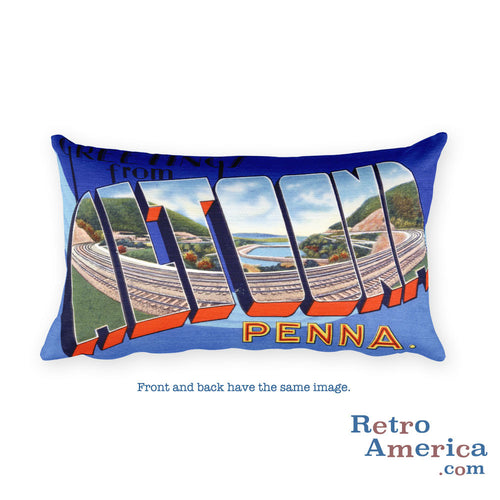 Greetings from Altoona Pennsylvania Throw Pillow