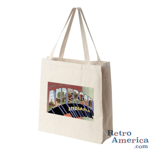 Greetings from Anderson Indiana IN Postcard Tote Bag