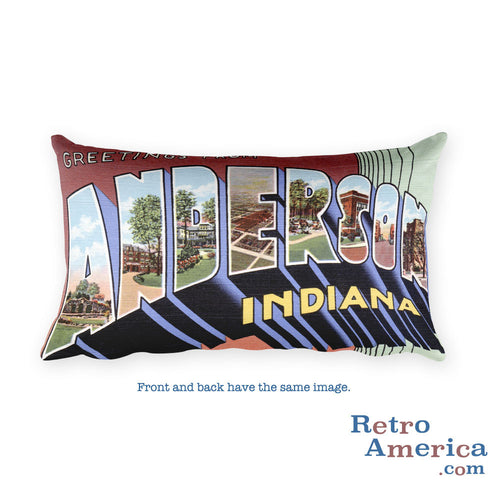 Greetings from Anderson Indiana Throw Pillow
