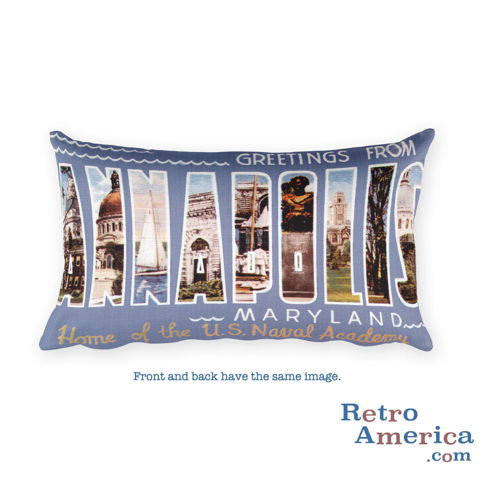 Greetings from Annapolis Maryland Throw Pillow
