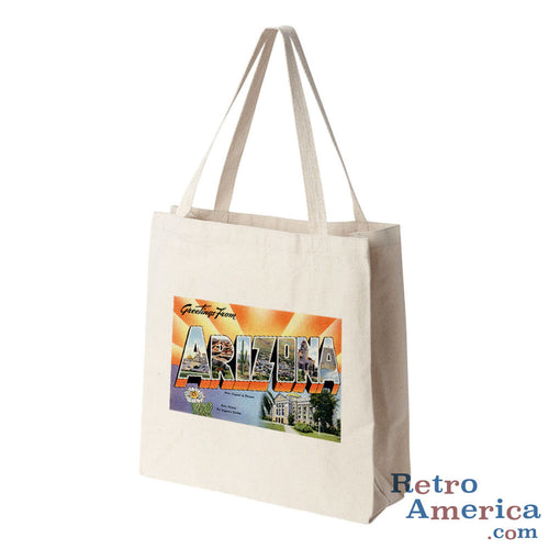 Greetings from Arizona AZ 1 Postcard Tote Bag