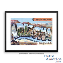 Greetings from Arizona AZ 2 Postcard Framed Wall Art