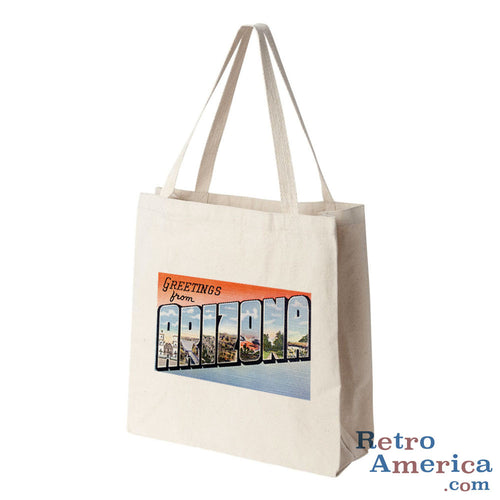 Greetings from Arizona AZ 4 Postcard Tote Bag