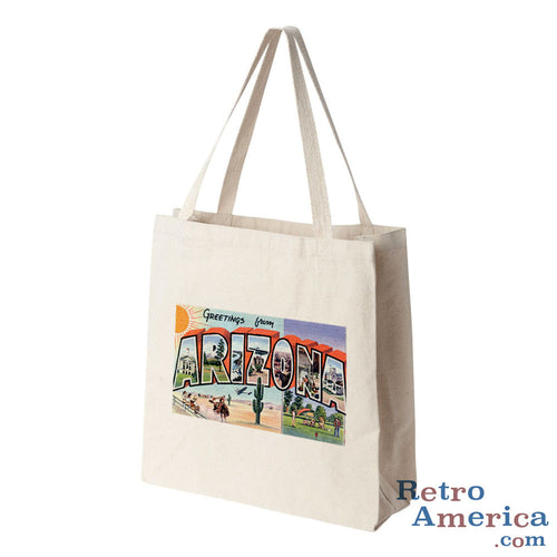 Greetings from Arizona AZ 5 Postcard Tote Bag