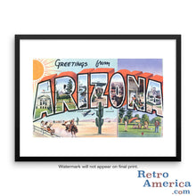Greetings from Arizona AZ 5 Postcard Framed Wall Art