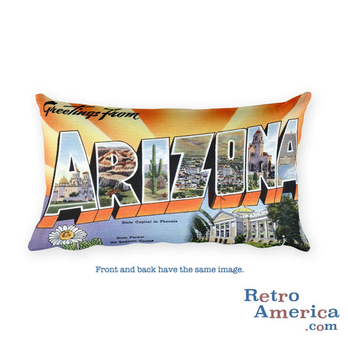 Greetings from Arizona Throw Pillow 1