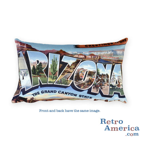 Greetings from Arizona Throw Pillow 2