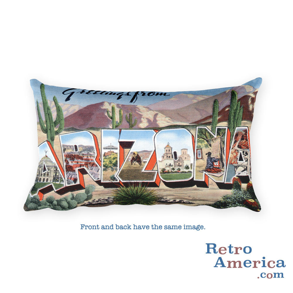 Greetings from Arizona Throw Pillow 3