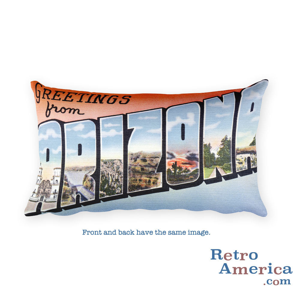 Greetings from Arizona Throw Pillow 4