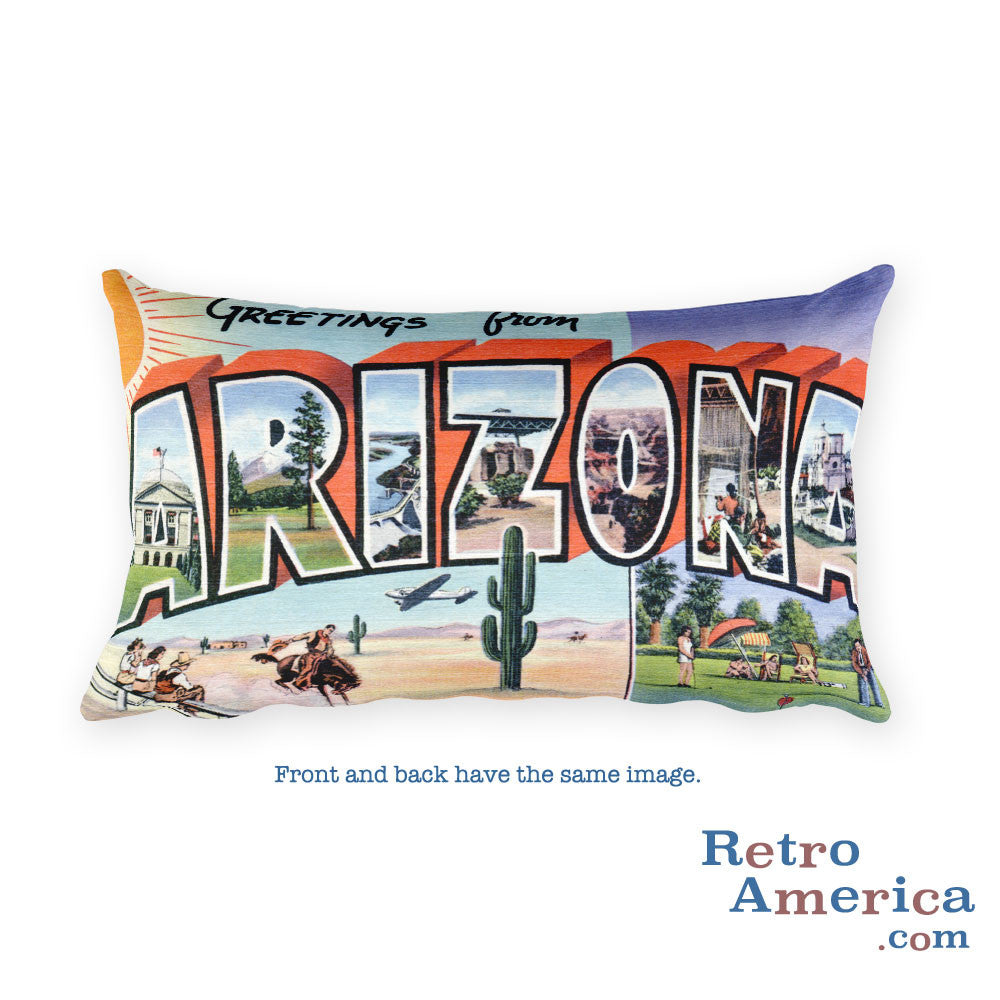 Greetings from Arizona Throw Pillow 5
