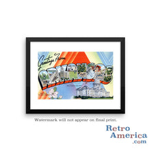Greetings from Arkansas AR 1 Postcard Framed Wall Art