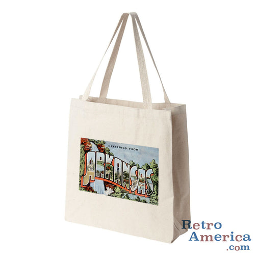 Greetings from Arkansas AR 2 Postcard Tote Bag