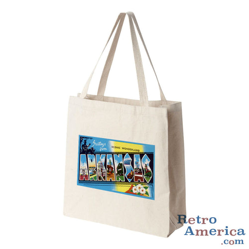 Greetings from Arkansas AR 3 Postcard Tote Bag