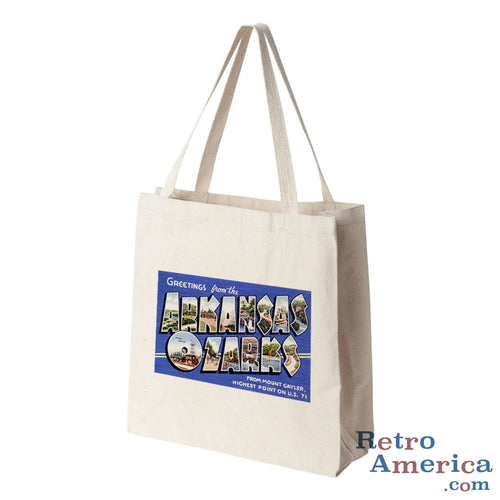 Greetings from Arkansas Ozarks Arkansas AR 2 Postcard Tote Bag