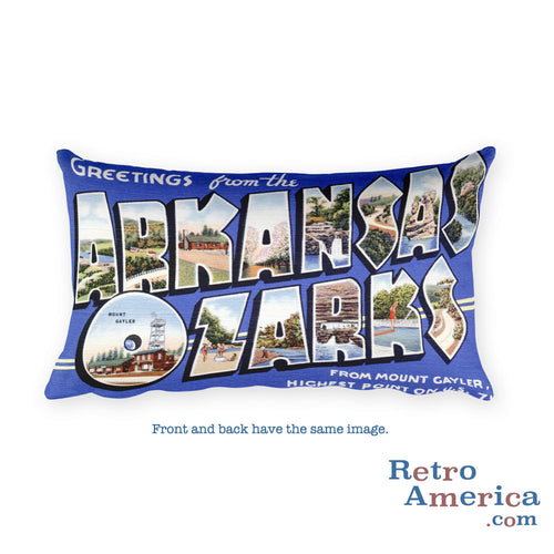 Greetings from Arkansas Ozarks Arkansas Throw Pillow 2