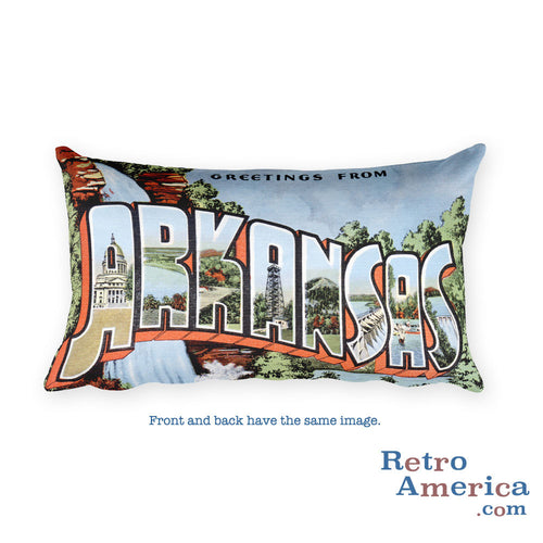 Greetings from Arkansas Throw Pillow 2