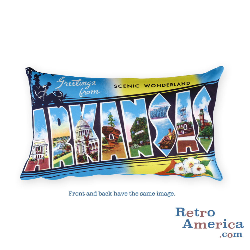 Greetings from Arkansas Throw Pillow 3