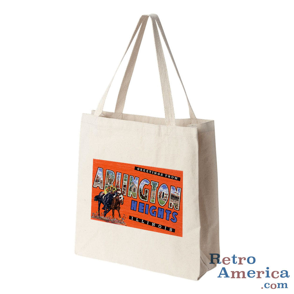 Greetings from Arlington Heights Illinois IL Postcard Tote Bag