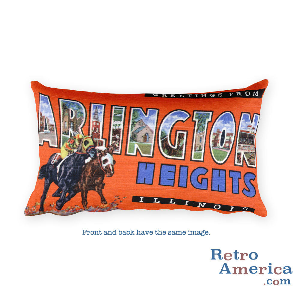 Greetings from Arlington Heights Illinois Throw Pillow