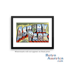 Greetings from Asbury Park New Jersey NJ 2 Postcard Framed Wall Art