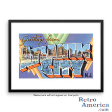 Greetings from Atlantic City New Jersey NJ 1 Postcard Framed Wall Art