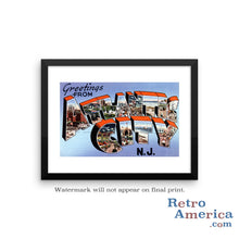 Greetings from Atlantic City New Jersey NJ 2 Postcard Framed Wall Art