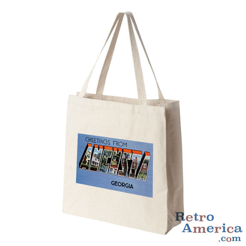 Greetings from Augusta Georgia GA 2 Postcard Tote Bag