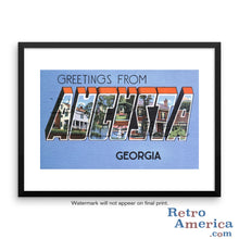 Greetings from Augusta Georgia GA 2 Postcard Framed Wall Art