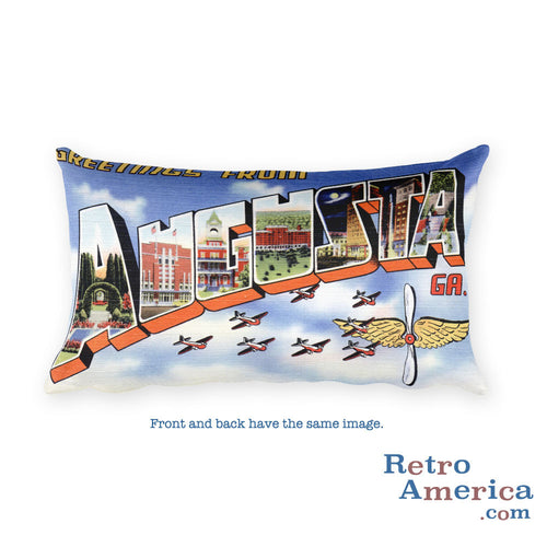 Greetings from Augusta Georgia Throw Pillow 1