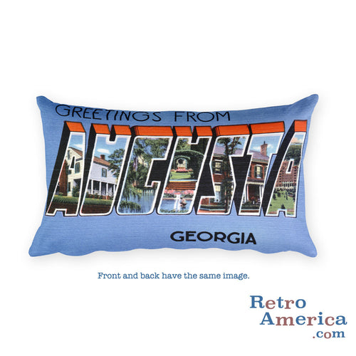 Greetings from Augusta Georgia Throw Pillow 2