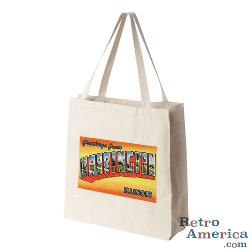 Greetings from Barrington Illinois IL Postcard Tote Bag