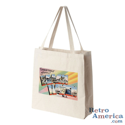 Greetings from Beach Haven New Jersey NJ Postcard Tote Bag