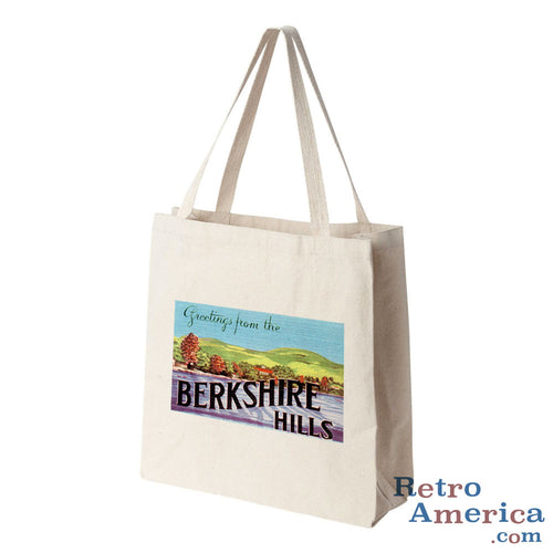 Greetings from Berkshire Hills Massachusetts MA Postcard Tote Bag