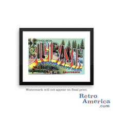 Greetings from Big Basin California CA Postcard Framed Wall Art