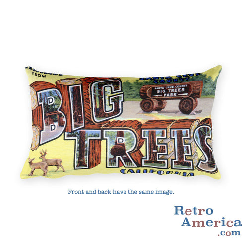 Greetings from Big Trees California Throw Pillow