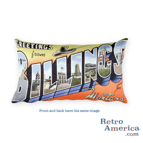 Greetings from Billings Montana Throw Pillow