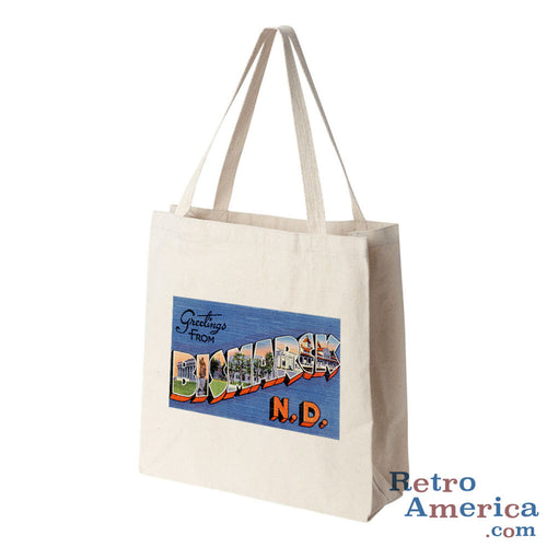 Greetings from Bismarck North Dakota ND 1 Postcard Tote Bag