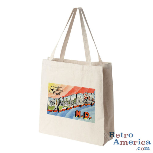 Greetings from Bismarck North Dakota ND 2 Postcard Tote Bag