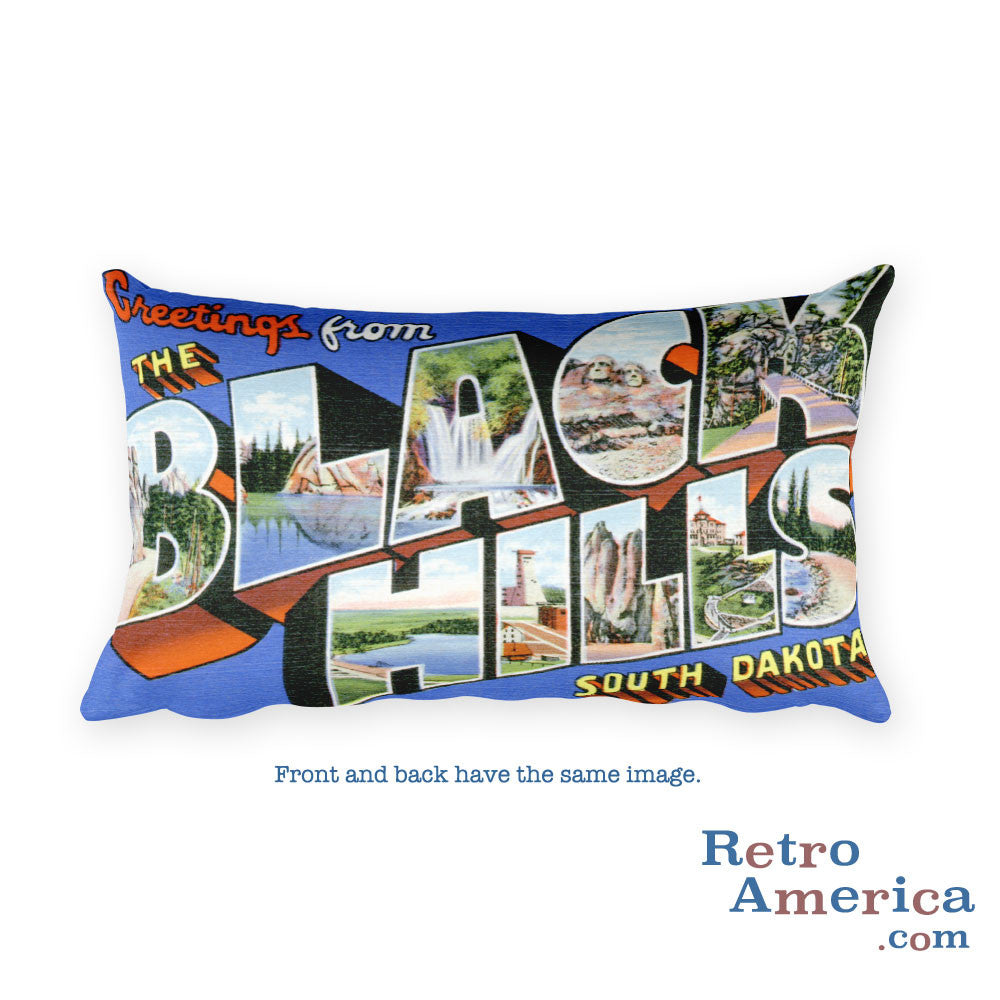 Greetings from Black Hills South Dakota Throw Pillow