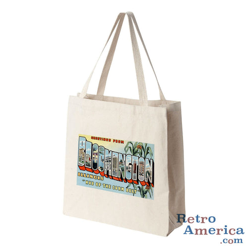 Greetings from Bloomington Illinois IL Postcard Tote Bag