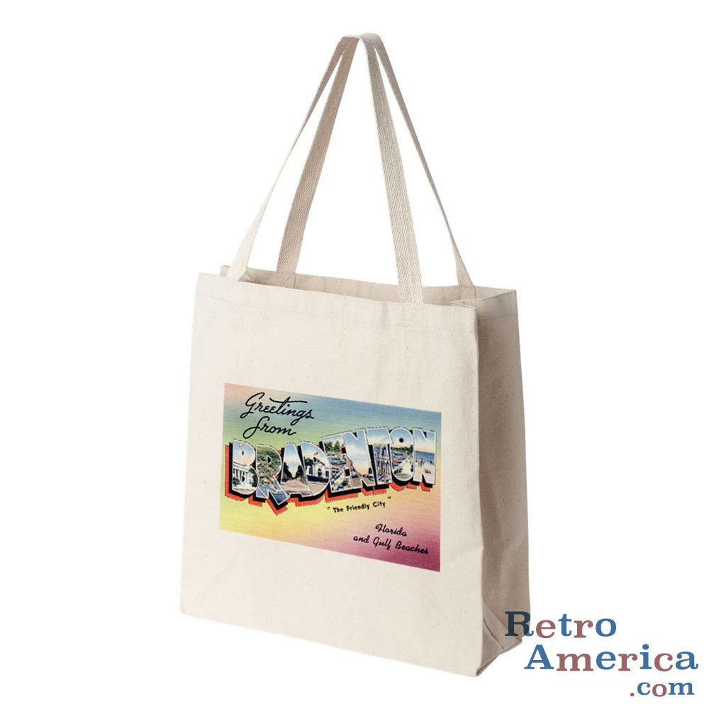 Greetings from Bradenton Florida FL Postcard Tote Bag
