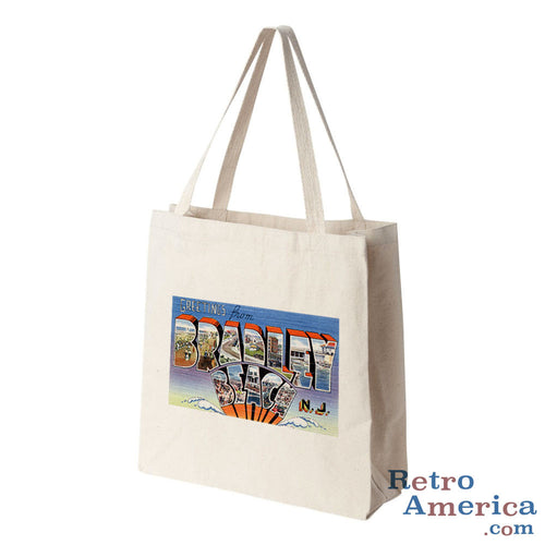 Greetings from Bradley Beach New Jersey NJ Postcard Tote Bag