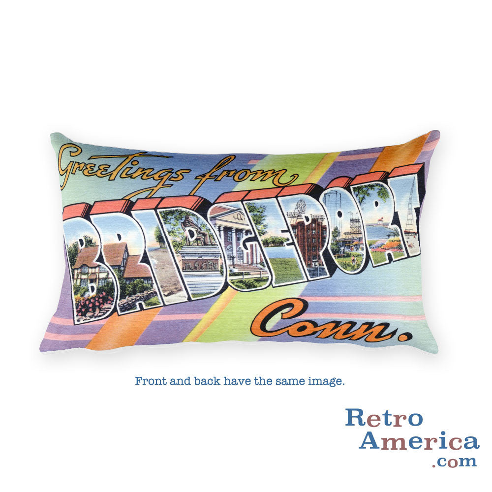 Greetings from Bridgeport Connecticut Throw Pillow