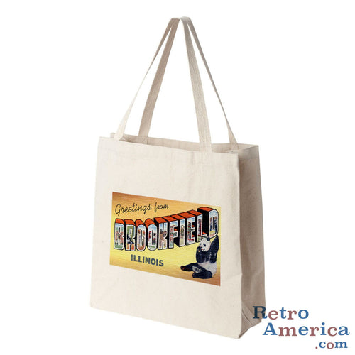 Greetings from Brookfield Illinois IL Postcard Tote Bag