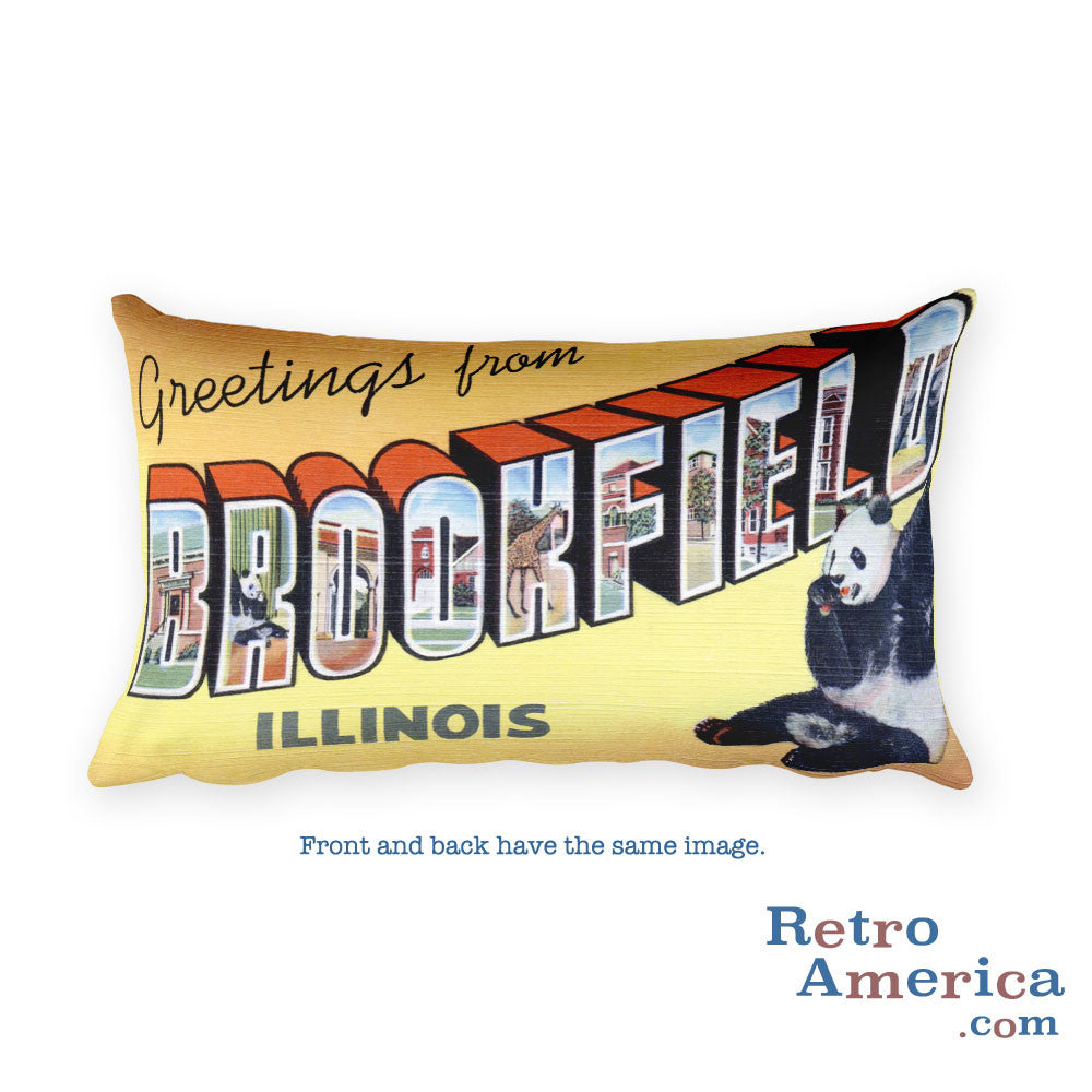 Greetings from Brookfield Illinois Throw Pillow