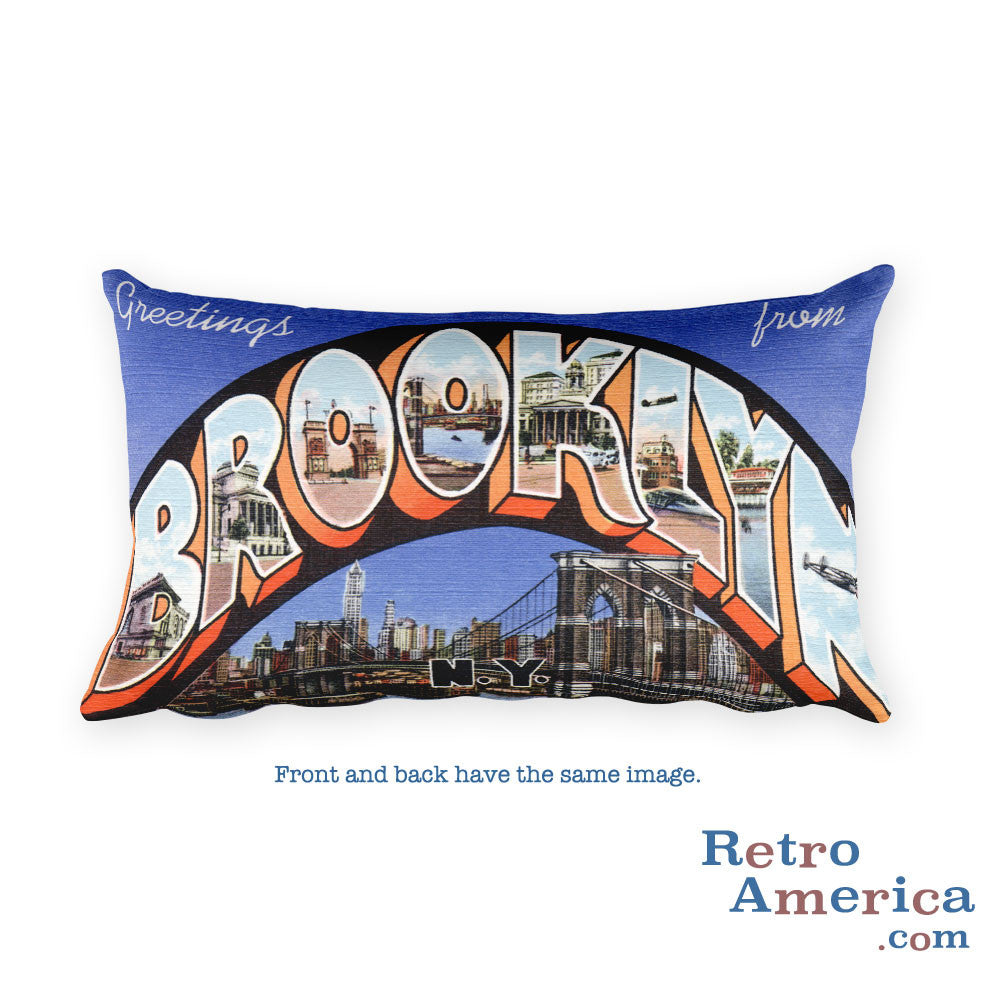 Greetings from Brooklyn New York Throw Pillow 2