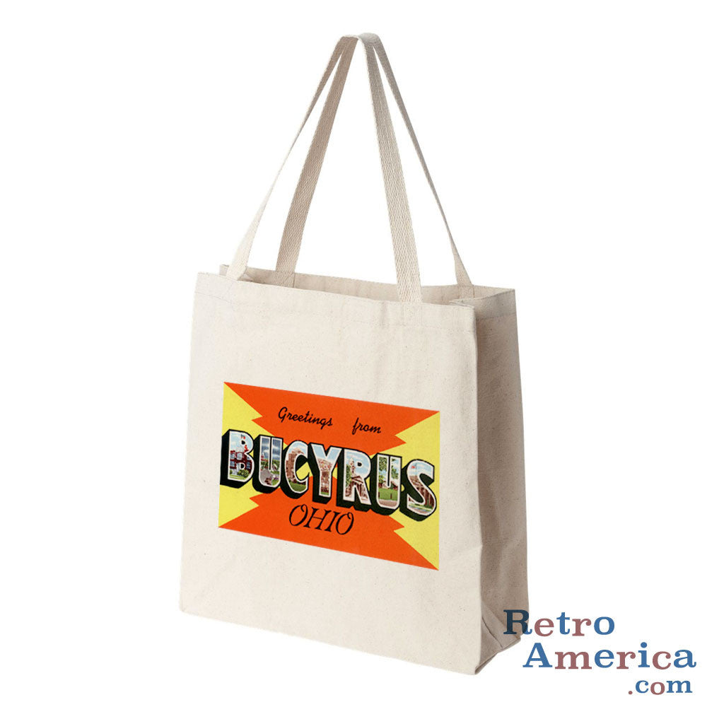 Greetings from Bucyrus Ohio OH Postcard Tote Bag