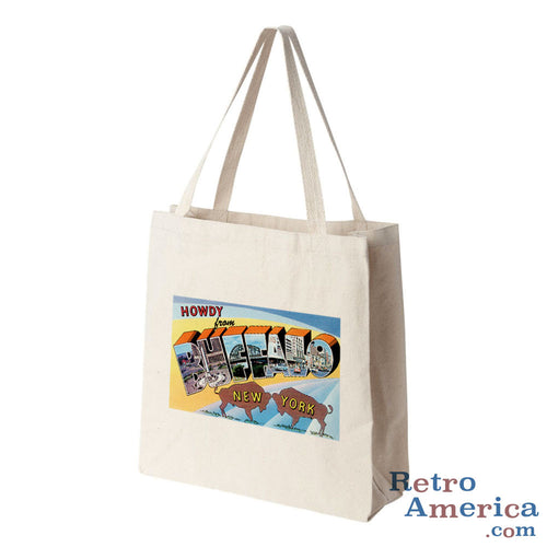 Greetings from Buffalo New York NY 1 Postcard Tote Bag