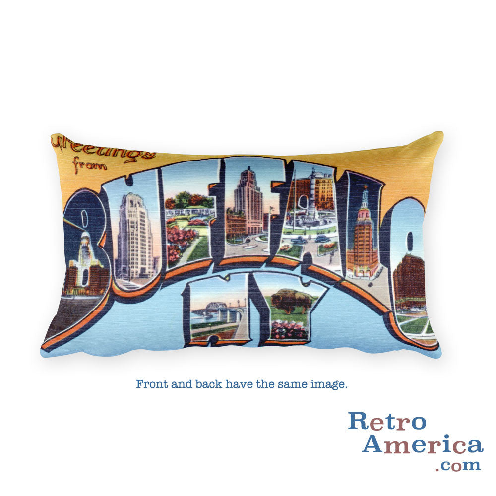 Greetings from Buffalo New York Throw Pillow 1