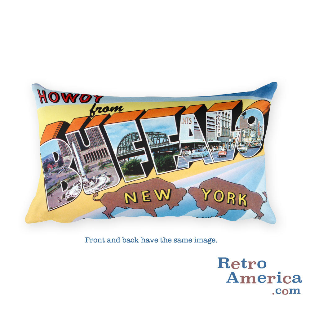 Greetings from Buffalo New York Throw Pillow 2